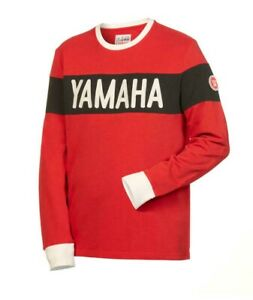 Genuine-Yamaha-Faster-Sons-Men-039-s-Alamo-Red-Sweater-Cotton-Jumper-NEW