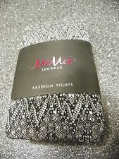 MeMoi Women's Legwear Black & Grey Lace Tights S/M NWT __________R9C3