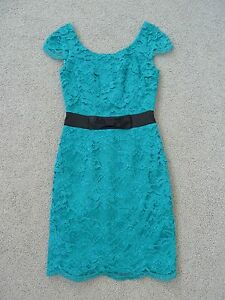 BNWT-Womens-Review-Green-Lace-Cap-Sleeve-Dress-Size-6