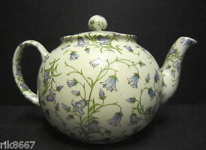 Heron-Cross-Pottery-Harebell-Chintz-6-8-Cup-English-Tea-Pot