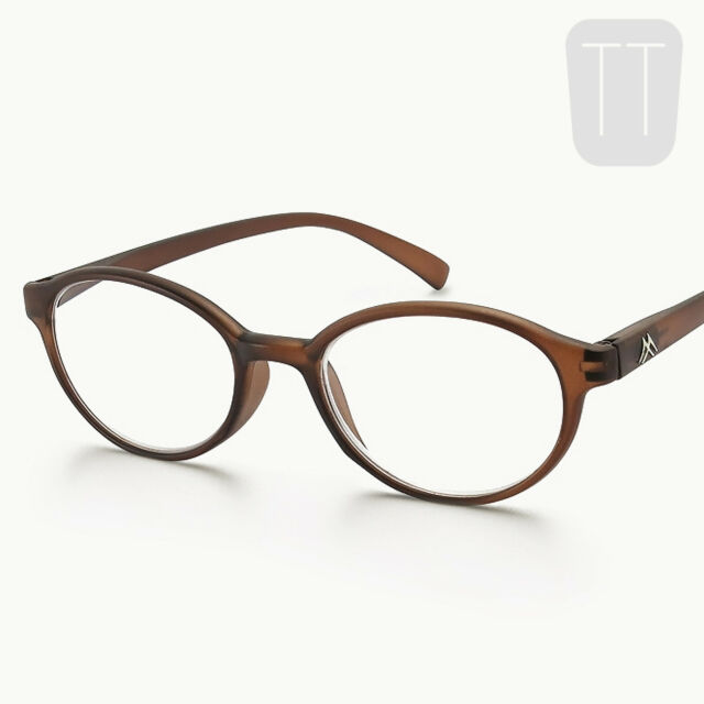 5d36295c972 Montana Strength Plus 2.00 Brown Round Frame Reading Glasses