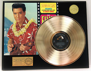 ELVIS-PRESLEY-BLUE-HAWAII-GOLD-LP-LTD-EDITION-RARE-RECORD-DISPLAY