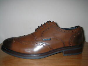 abf70e80dcf MENS TAN BURNISHED LEATHER LACE UP QUALITY BROGUE SHOES 11 45 RRP ...