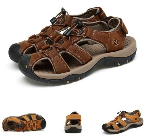Mens Summer Sport Sandals Buckle Closed Toe Hollow Out Outdoor Sandals Shoes Sz