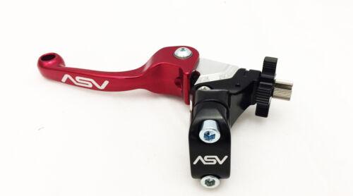 ASV Unbreakable F3 Shorty Red Pair Pack Folding Brake Clutch Levers Raptor YFZ