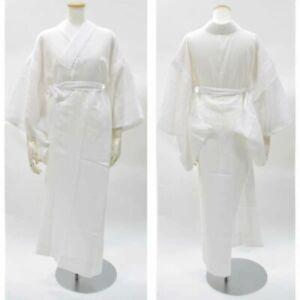 100% Vrai Traditionnel Japonais Femmes Kimono Long Intérieur Sous Vêtement Juban Wh Japon éLéGant Et Gracieux
