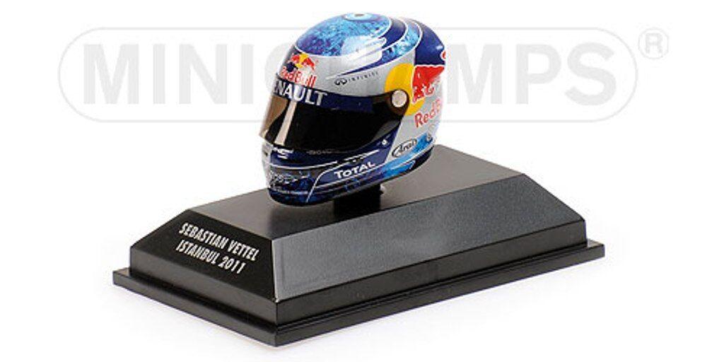 MINICHAMPS 381 110401 ARAI F1 drivers Helmet S Vettell Istanbul GP 2011 1 8th