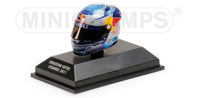 MINICHAMPS 381 110401 ARAI F1 drivers Helmet S Vettell Istanbul GP 2011 1:8th