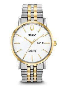 Bulova-Men-039-s-American-Clipper-Automatic-Two-Tone-Bracelet-Watch-98C130