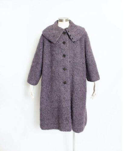 1980s Oversized Sweater Wool Mohair Knit Cardigan