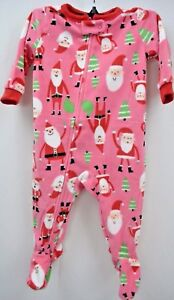 8c727420c Carter s Pink Baby Girl Fleece One Piece Footed Pajama Christmas ...