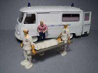 4 Figurines 1/43 Set 375 Les Ambulanciers Vroom Unpainted Rescue Norev