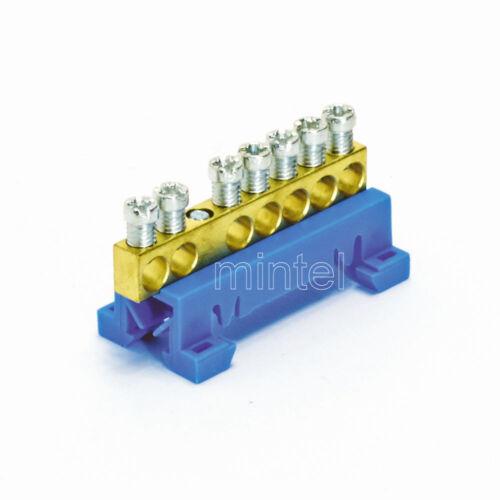 FTG 870N//7 Neutralleiter N-Sammelklemme 7-polig blau 10mm² 63A//690V