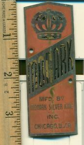 Bicycle-Motorcycle-Vintage-Head-Plate-Monark-Silver-King-Inc-Chicago-USA
