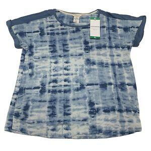 Lucky Brand Ladies' Tee Shirt Pajama Size XL Color Blue Tie Dye Sleepwear