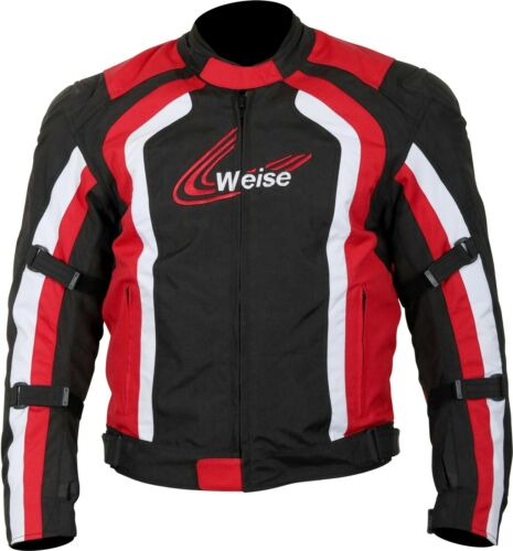 Weise Corsa Jacket Men/'s Black Red Waterproof Textile Motorcycle Jacket NEW