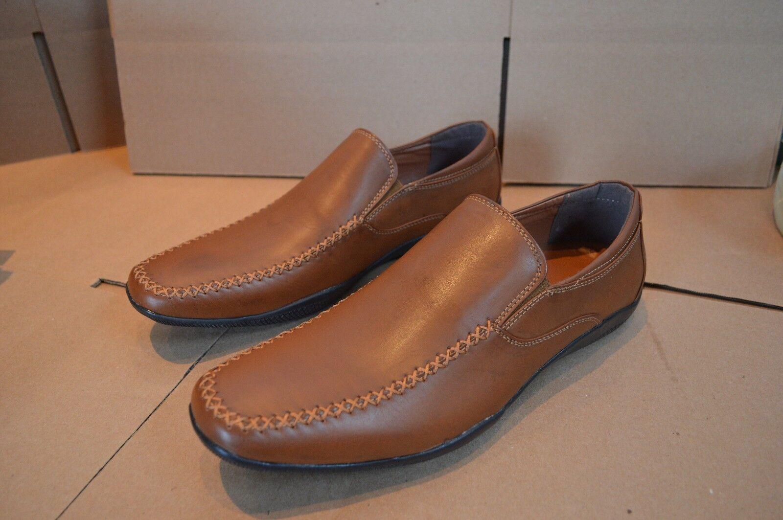 New J75 by Jump Men's Prestige Tan Slip On Loafers
