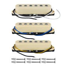 3pcs Alnico 5 Single Coil Pickups Strat SSS Guitar Pickup Set N/m/b Cream