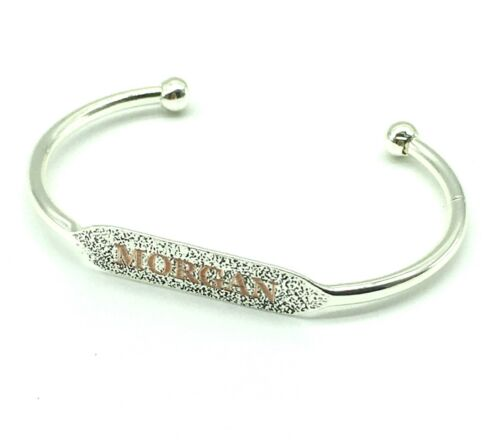 or Silver Plated Gold Personalized Name Bangle