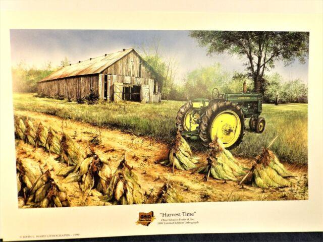 "john deere tractor art print  ""harvest time""ward"