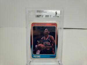 1988-89-Dennis-Rodman-Fleer-43-Rookie-RC-BGS-9-MINT-HOF