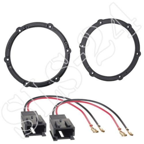 Citroen c1 c4 peugeot 308 107 altavoces anillos 165mm LSP adaptador cable SET