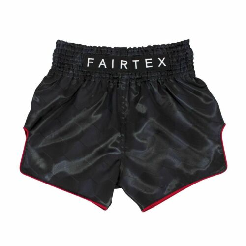"""BS1901 /""""Stealth/"""" Black Muay Thai Shorts FAIRTEX"""