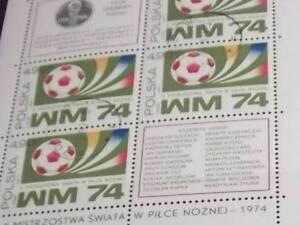 D-Polen-Briefmarken-2315-2316-kompl-Ausg-gestempelt-1974-Fussball-WM