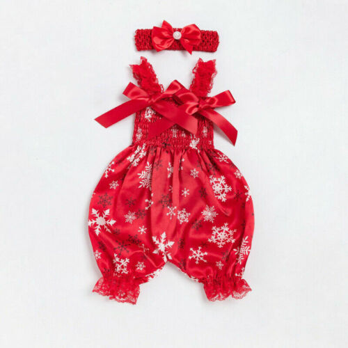 Baby Headband Jumpsuit Newborn Romper Outfit Bodysuit Infant Floral Clothes Girl
