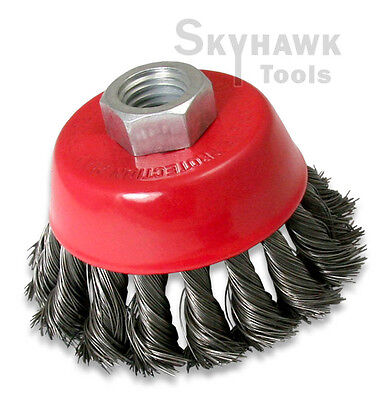 """12 Pack 4/"""" Cup Wire Wheel  Brush 5//8/"""" X 11 NPT Arbor Fits Most Angle grinders"""