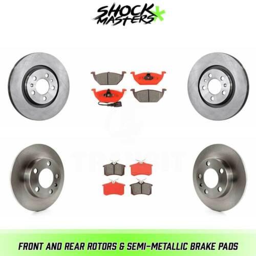 Front /& Rear Semi-Metalic Brake Pads /& Rotors Kit for 2006 Volkswagen Jetta