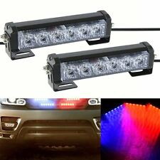 6LED Car Truck Dash Strobe Flash Light Emergency Police Warning 7 Modes Red/Blue