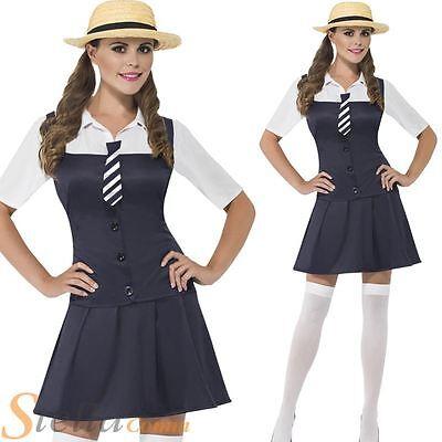 Ladies School Girl Costume St Trinians Schoolgirl Fancy Dress