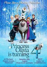 Inviti Per Festa Di Compleanno Personalizzati Frozen 8 biglietti 2 Disegni (A6)