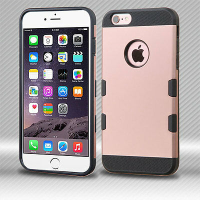Rose Gold Hybrid Hard Case Shockproof Cover For Apple iPhone 6S 6 Plus 5.5 4.7