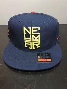 NIKE BARCELONA NEYMAR SNAPBACK 641453-410 JR BRAZIL HAT CAP JORDAN ... 35be50ac90c