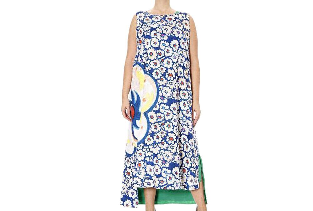 MARINA RINALDI Women's Green Green Green Dodici Floral Asymmetric Dress  1580 NWT c29439