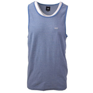 Vans-Off-The-Wall-Men-039-s-Blue-Striped-Sleeveless-Tank-Top-S08-Retail-30