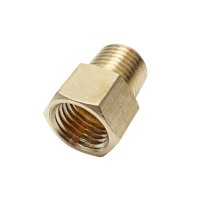BSP-NPT Adapter 1//8 Male BSPT To 1//4 Female NPT Brass Pipe Fitting Euro To US