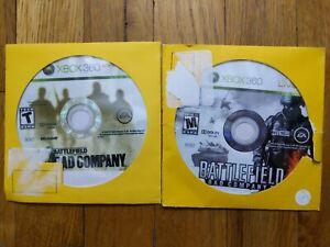 USED XBOX 360 Games Lot Battlefield Bad Company 1 & 2 - Free Shipping - 1B