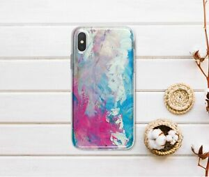 Colorful-Silicone-Case-For-iPhone-XR-XS-Max-Watercolor-iPhone-6s-7-8-Plus-Cover