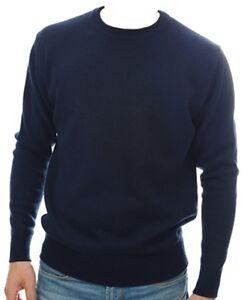 in da scuro blu cashmere Pullover cashmere girocollo 100 Xl uomo nF8qxX56