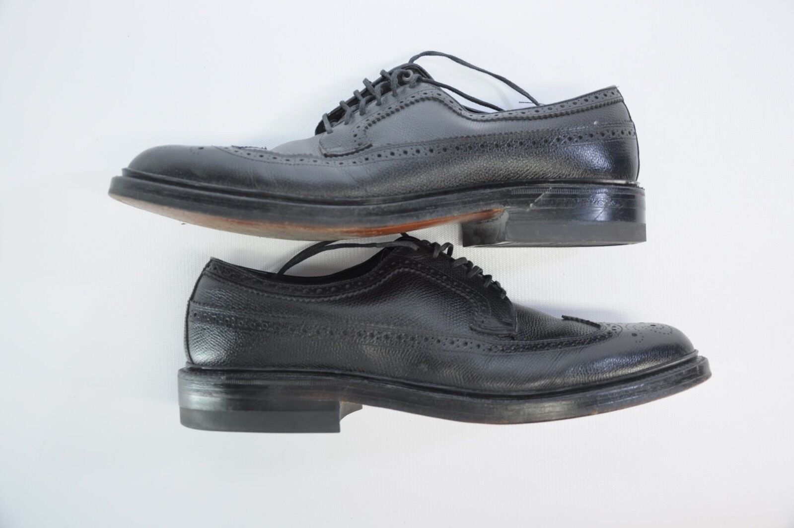 sport caldi HANOVER LB LB LB SHEPPARD SIGNATURES TEXTURED LEATHER WING-TIP BROGUE Dimensione 11 E C  Ultimo 2018
