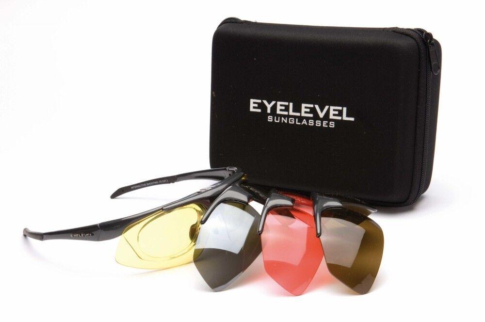 Shooting/Safety Glasses Set-4 Colours Interchangeable  Shatterproof UV400 Lenses