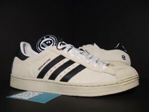 3266a2b918e9 2003 ADIDAS SUPER APE STAR SUPERSTAR BATHING BAPE CREAM WHITE BLACK ...