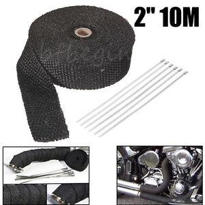 10M-2-034-Titane-Isolant-Thermique-Bande-Moto-Tuyau-d-Echappement-tissu-de-verre
