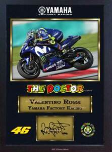 Valentino-Rossi-Superbikes-autograph-print-signed-photo-picture-FRAMED-MDF