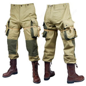WW2-US-ARMY-M42-Solider-Airborne-Paratrooper-Pants-Long-Cotton-Trousers-Men-039-s