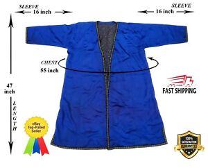 Blue-Vintage-Uzbek-Silk-Chapan-Coat-Jacket-Robe-Dress-SALE-WAS-135-00