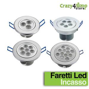 FARO-FARETTO-A-LED-3W-5W-7W-12W-DA-INCASSO-A-MOLLA-CON-ALETTE-LUCE-CALDA-FREDDA